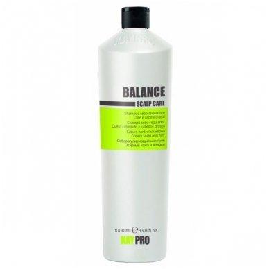 KAY PRO BALANCE Scalp Care šampūnas besiriebaluojančiai galvos odai, 1000ml