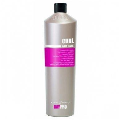 KAY PRO CURL garbanotus, banguotus plaukus kontroliuojantis šampūnas, 1000ml.