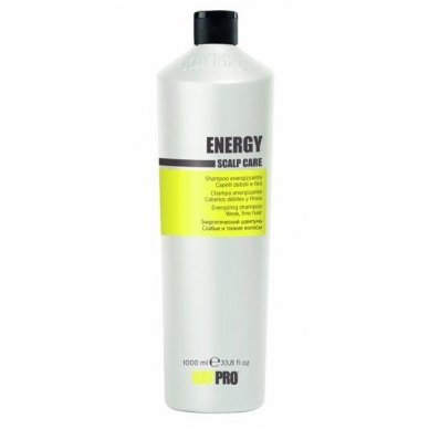KAY PRO ENERGY Scalp care šampūnas silpniems, ploniems plaukams, 1000 ml