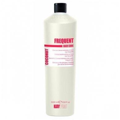 KAY PRO FREQUENT gaivinantis, kasdienio nauudojimo Kokoso kvapo šampūnas, 350ml