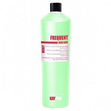 KAY PRO FREQUENT gaivinantis, kasdienio naudojimo Mėtų šampūnas, 350ml.