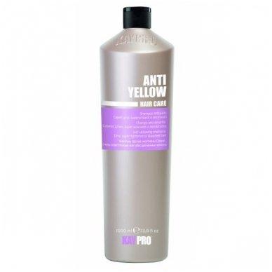 KAY PRO geltoną atspalvį slopinantis šampūnas pilkiems, šviesiems ir išbalintiems plaukams. 1000ml.