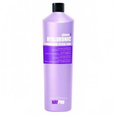 KAY PRO HIALURONIC tankinantis - drėkinantis šampūnas su Hialurono rūgštimi, 1000 ml