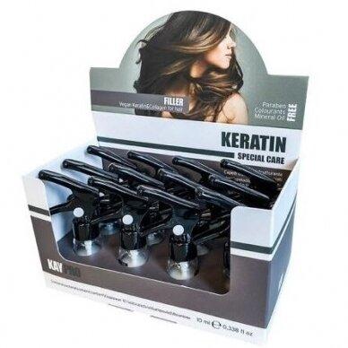 KAY PRO Keratin Filler plaukų fluidas su keratinu ir kolagenu 10 ml x 12 vnt. 2