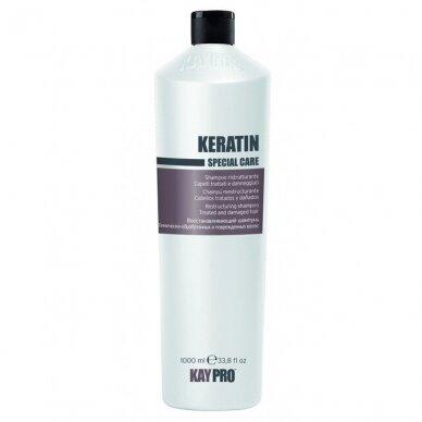 KAY PRO KERATIN plaukų šampūnas pažeistiems plaukams, 1000 ml