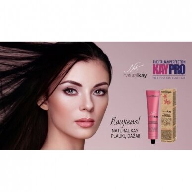 KAY PRO Natural Kay Nuance plaukų dažai 5.31 BEIGE LIGHT CHESTNUT, 100ml 3