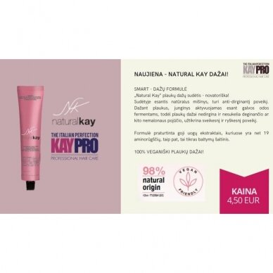 KAY PRO Natural Kay Nuance plaukų dažai 7.01 СOLD BLONDE, 100ml  4