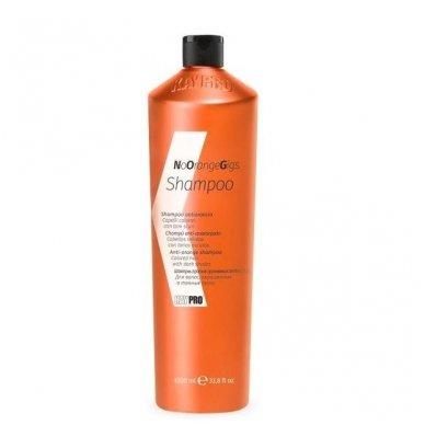 KAY PRO NO ORANGE GIGS oranžinį atspalvį slopinantis šampūnas, 1000 ml.