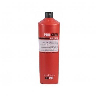 KAY PRO-SLEEK šampūnas ištiesintiems ir chemiškai apdorotiems plaukams, 1000ml.