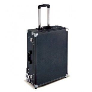 Kelioninis lagaminas vizažo, kirpėjo priemonėms GLAMOUR 9636K, juodos sp.