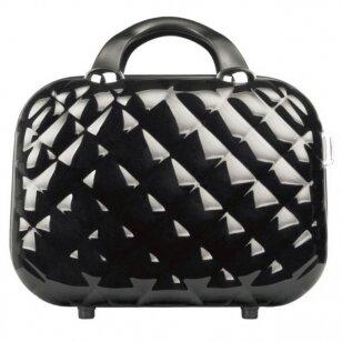 Kelioninis vizažo meistro, kirpėjo krepšys GLAMOUR 6002-2, juodos sp.