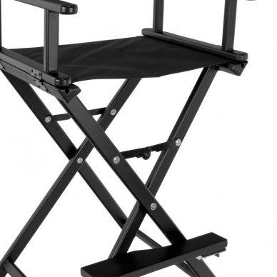Kėdė makiažui GLAMOUR. Juoda-juoda. 2