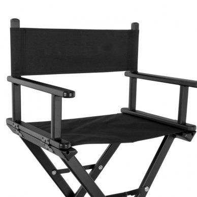 Kėdė makiažui GLAMOUR. Juoda-juoda. 3