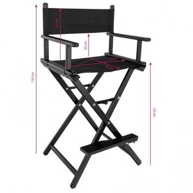 Kėdė makiažui GLAMOUR. Juoda-juoda. 4