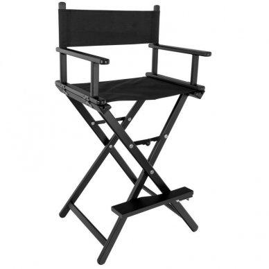 Kėdė makiažui GLAMOUR. Juoda-juoda.