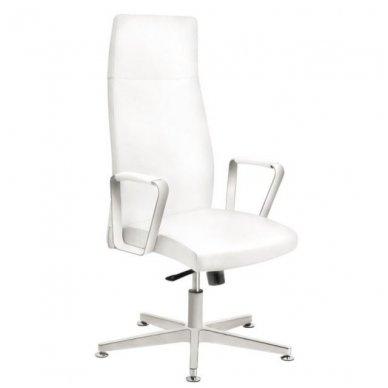 Kėdė su ratukais RICO 156, baltos sp.
