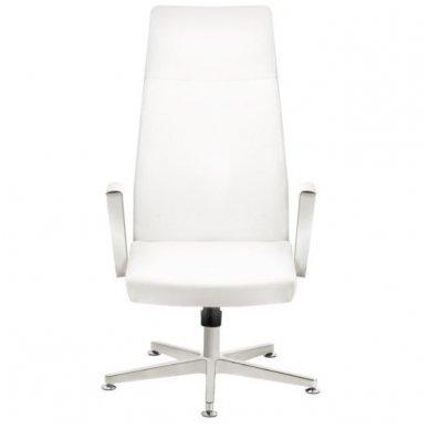 Kėdė su ratukais RICO 156, baltos sp. 4