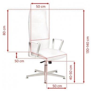 Kėdė su ratukais RICO 156, baltos sp. 3