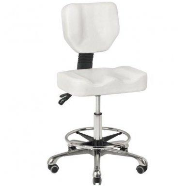Meistro kėdutės pakojis, apvalus, baltos sp.  3