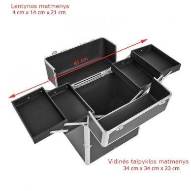 Kelioninis lagaminas vizažo, kirpėjo priemonėms 9022 2