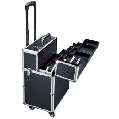 Kelioninis lagaminas vizažo, kirpėjo priemonėms GLAMOUR D-9006, juodos sp. 2