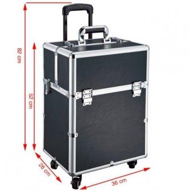 Kelioninis lagaminas vizažo, kirpėjo priemonėms GLAMOUR D-9006, juodos sp. 3