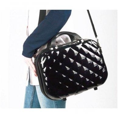Kelioninis vizažo meistro, kirpėjo krepšys GLAMOUR 6002-2, juodos sp. 5