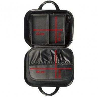 Kelioninis vizažo meistro, kirpėjo krepšys GLAMOUR 6002-2, juodos sp. 8