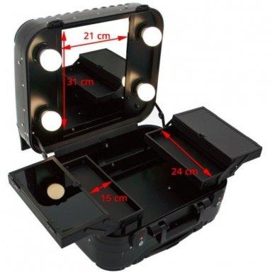 Kelioninis vizažo meistro, kirpėjo lagaminas GLAMOUR 9301, juodos sp. 4