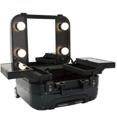 Kelioninis vizažo meistro, kirpėjo lagaminas GLAMOUR 9301, juodos sp. 5