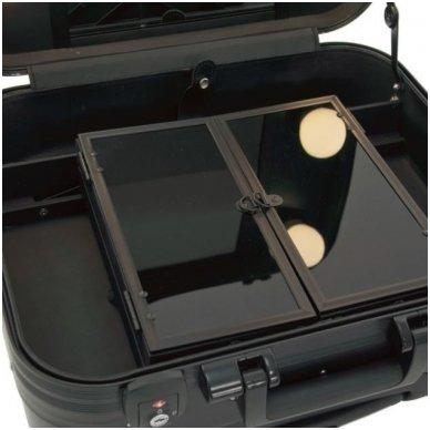 Kelioninis vizažo meistro, kirpėjo lagaminas GLAMOUR 9301, juodos sp. 6