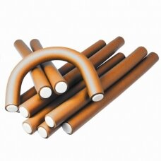 Kiepe Professional lankstūs plaukų suktukai D16, 12 vnt. oranžinė sp.
