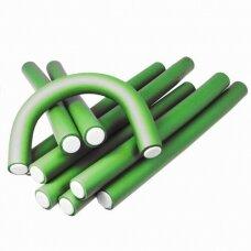 Kiepe Professional lankstūs plaukų suktukai D22, 12 vnt. žalios sp.