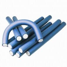 Kiepe Professional lankstūs plaukų suktukai D24, 12 vnt. mėyna sp.