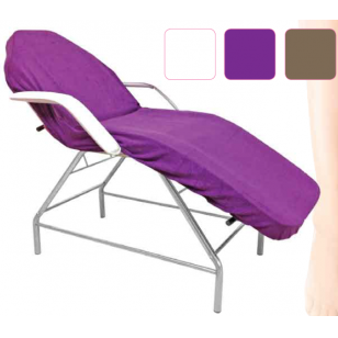 Kilpinė paklodė su guma 100x215cm, violetinės sp.