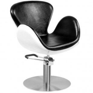 Kirpyklos kėdė Gabbiano AMSTERDAM, juoda/balta