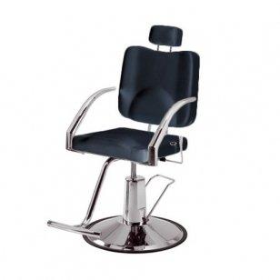 Kirpyklos/vizažo kėdė Weelko Platy, juodos sp.