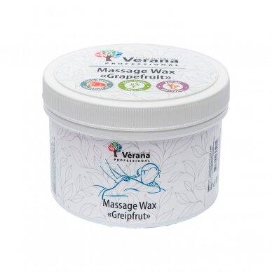 Kietas masažo aliejus (vaškas) Verana - Greipfrutas, 450g