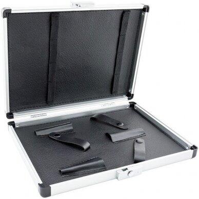 Kirpėjo darbo įrankių dėklas DS-518-5, plastikinis-aliuminis, juodas 2