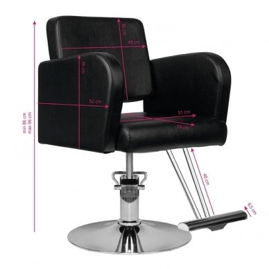 Kirpklos kėdė HAIR SYSTEM HS92, juodos sp. 3