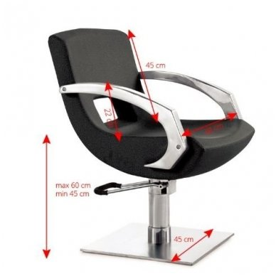 Kirpuklos kėdė GABBIANO Q-3111, juodos sp. 2