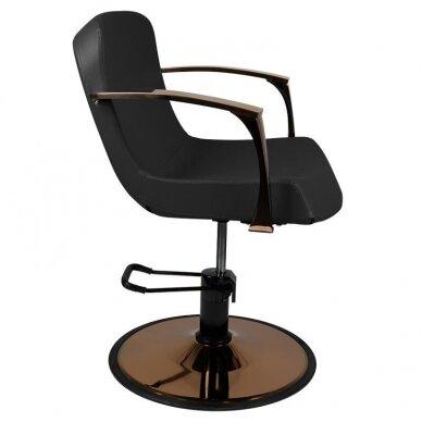 Kirpyklos kėdė GABBIANO BOLONIA, juodos sp. 5