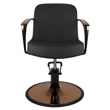 Kirpyklos kėdė GABBIANO BOLONIA, juodos sp. 3