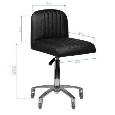 Kirpyklos kėdė GABBIANO, juodos sp. 2