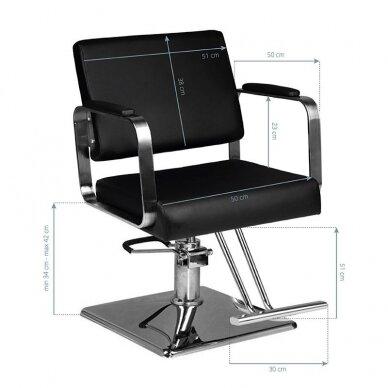 Kirpyklos kėdė HAIR SYSTEM HS202, juodos sp. 2