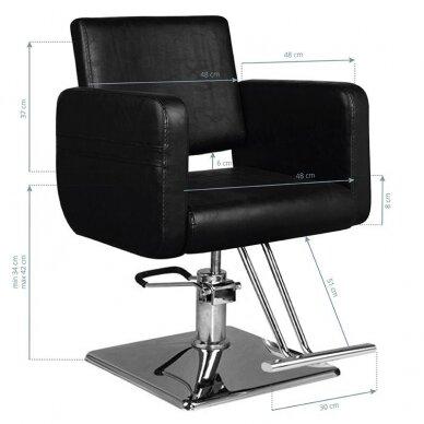 Kirpyklos kėdė HAIR SYSTEM SM311, juodos sp. 5