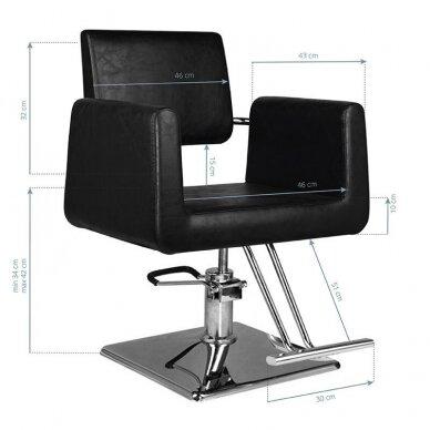 Kirpyklos kėdė HAIR SYSTEM SM313, juodos sp. 2