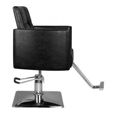 Kirpyklos kėdė HAIR SYSTEM SM344, juodos sp. 2
