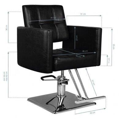 Kirpyklos kėdė HAIR SYSTEM SM344, juodos sp. 5