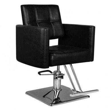 Kirpyklos kėdė HAIR SYSTEM SM344, juodos sp.